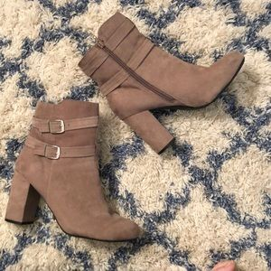 🥾 Christian Soriano brown boots size 12 heels